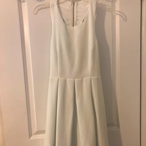 White skater dress